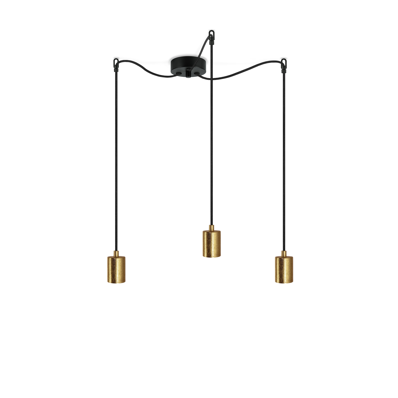 Pendant Lamp CERO 3_S   Gold & Black