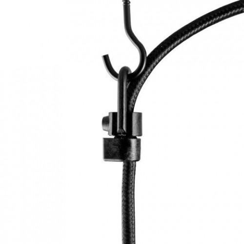 Pendelleuchte UNO BASIC 5_S | Glänzende Kupferfassung, schwarzes Netzkabel, schwarze Hardware