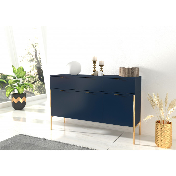 Combi Cabinet Polka P02 | Navy Blue