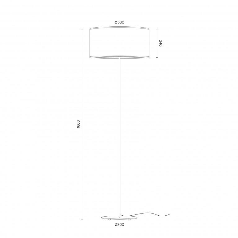 Stehlampe Mika XL 1_F | Weiß