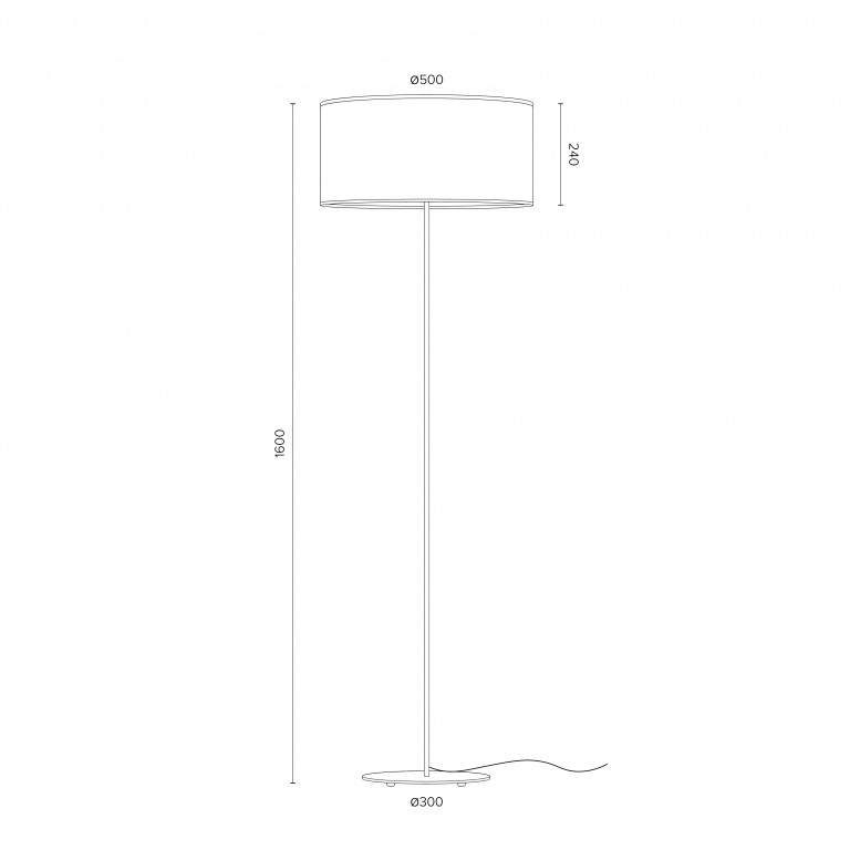 Stehlampe Mika XL 1_F   Schwarz