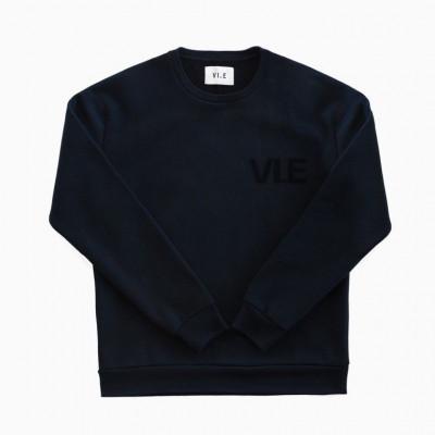 VI.E Velvet Sweatshirt | Blue Night