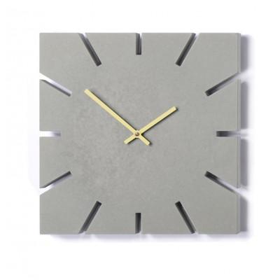 Zeitgeist Uhr Hellgrau | Gold
