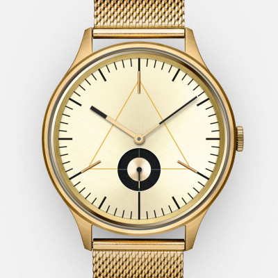 The Architect Analog Watch   PVD Gold, Stainless Steel Strap