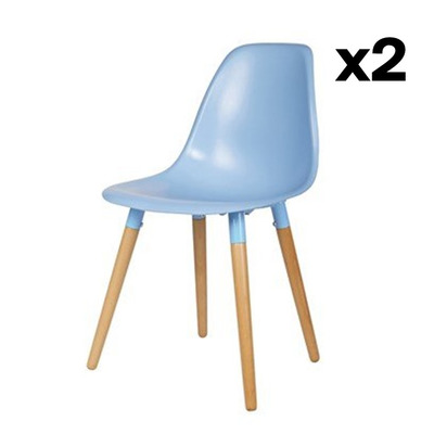 2-er Set Stühle Roef | Petrolblau
