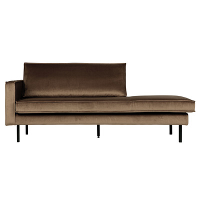 Daybed Rodeo Left Velvet | Taupe