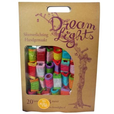 Lampion Multicolor-Lichterkette, 35 Lichter