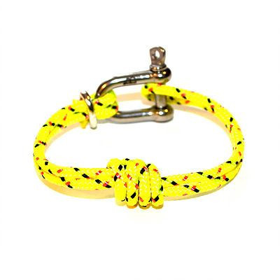 Shackle Bracelet | Double Overhand Knot | Yellow