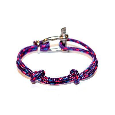 Shackle Bracelet | Fisherman's Knot | Violet
