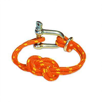 Shackle Bracelet | Savoy Knot | Orange