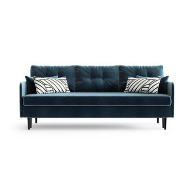 3-Sitzer Schlafsofa Memphis | Marineblau