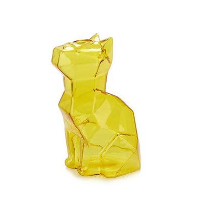 Vase Sphinx Katze 15 cm   Bernstein