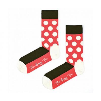 Unisex-Socken | Half Huge Dots Rot