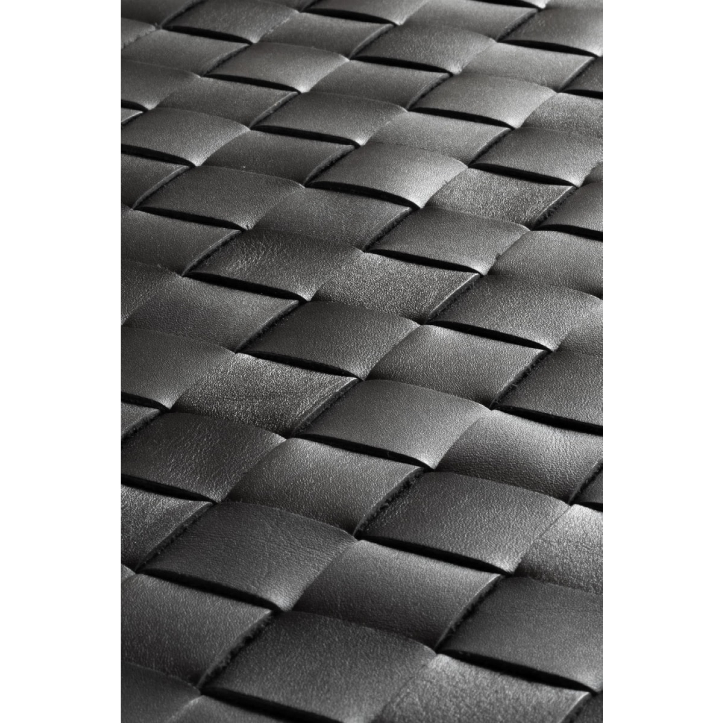 Kalbsleder Teppich Tuscany | Matt-schwarz