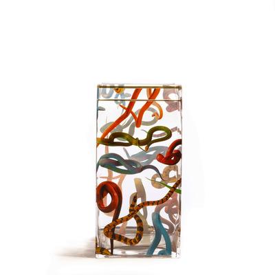 Vase Snakes 15x15x30 cm | Multicolour