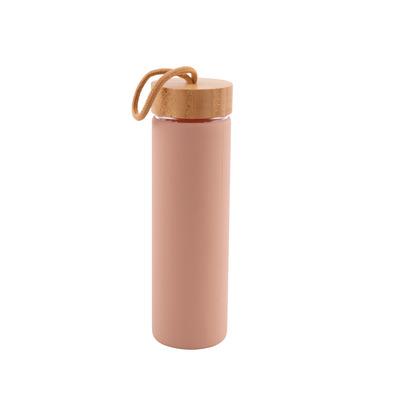 Glasflasche mit Silikonhülle 60 cl l Rosa