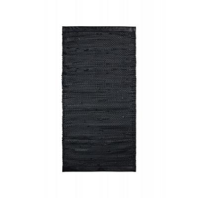 Kalbsleder Teppich Porto | Matt-schwarz