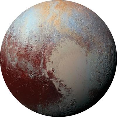 Runde Fototapete Pluto | Mehrfarbig