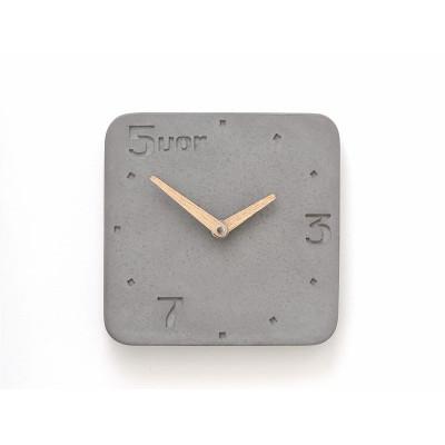 Uhr aus Beton 5vor | Grau
