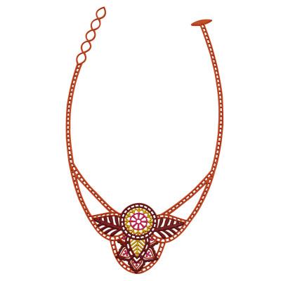 India Necklace | Caramel
