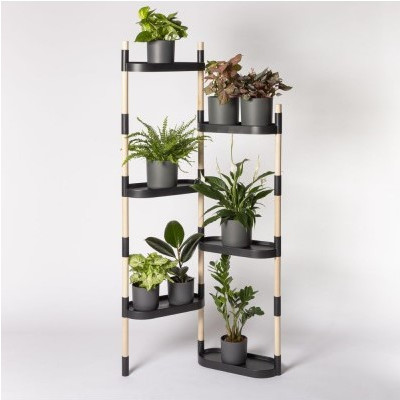 Pflanzenständer mit Etagen | Schwarz