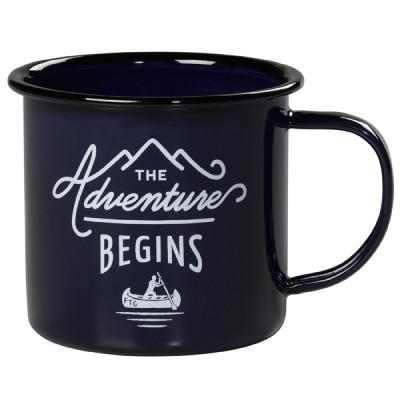 Mug Enamel | The Adventure Begins | Blue