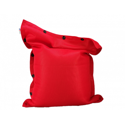 Sitzsack komplett 130 x 100 cm   Rot