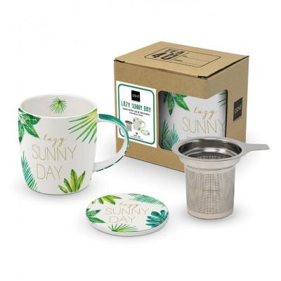 Tasse mit Deckel & Sieb CB   Dschungel