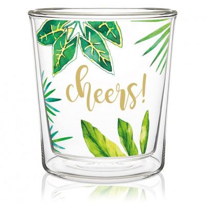 Doppelschichtiges Glas Trend   Dschungel