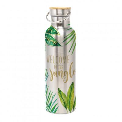 Edelstahlflasche mit Verschluss   Dschungel