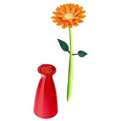 Pen with Vase Flower   Orange