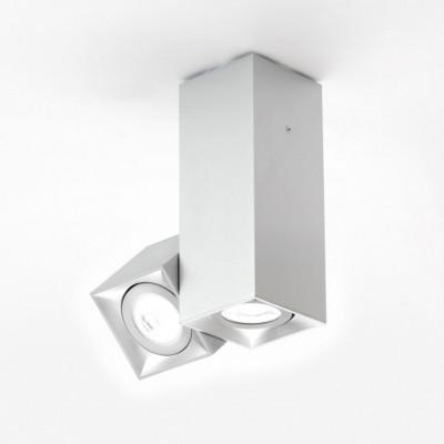 Wandleuchte Dau 204 x 2 Gu10 | Aluminium gebürstet