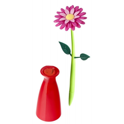 Pen with Vase Flower   Pink