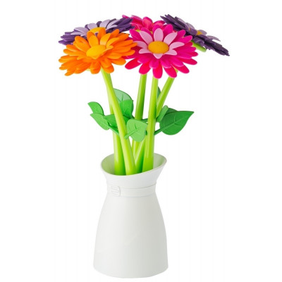 Vase with Set of 5 Pens Flower   Multi