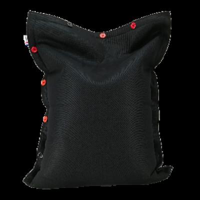 Sitzsack komplett 130 x 100 cm   Schwarz