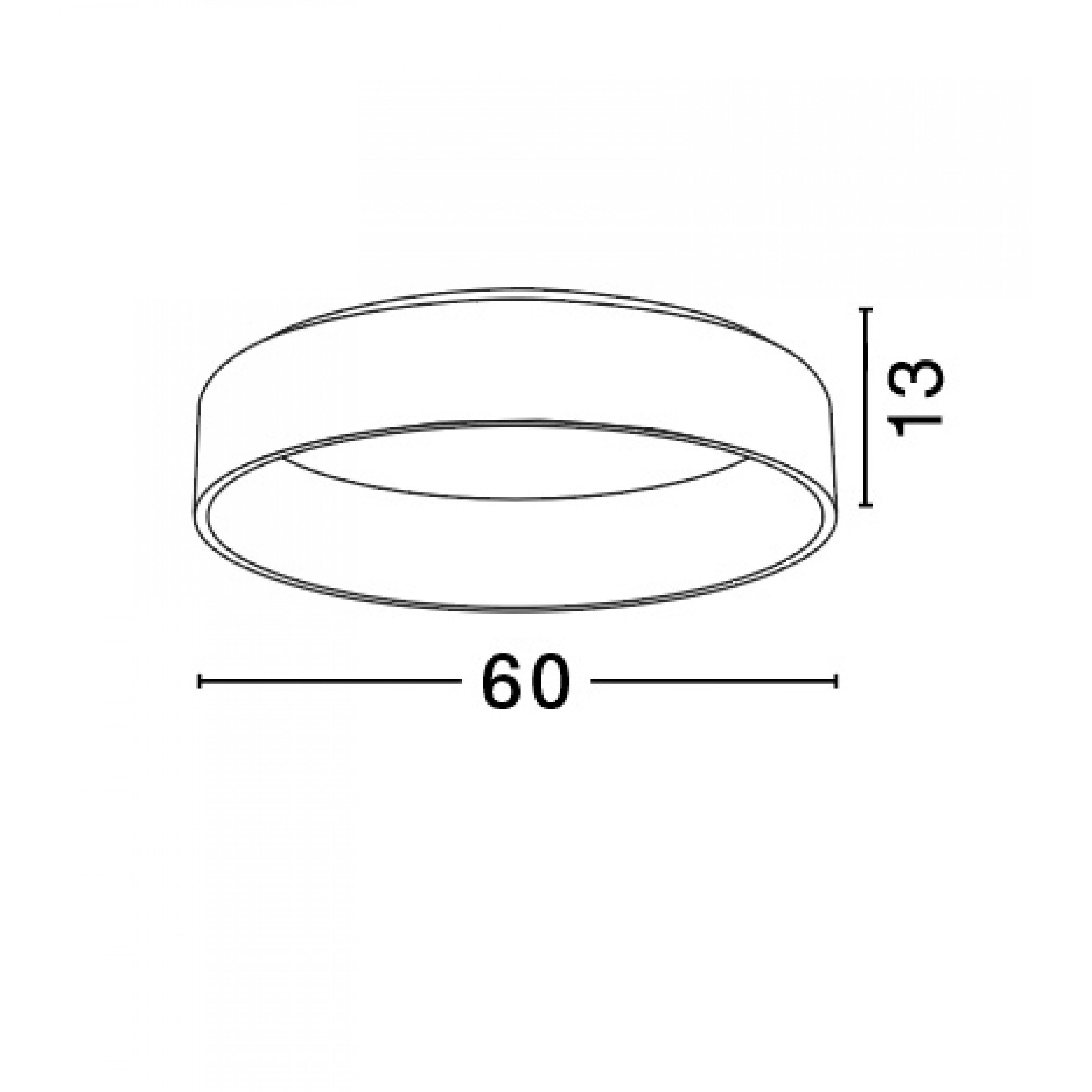 Deckenleuchte Rando T 60 cm H 13 cm   Grau