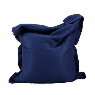 Sitzsack komplett 130 x 100 cm   Blau