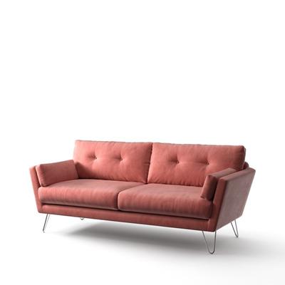 3-Sitzer-Sofa Tido   Puderrosa