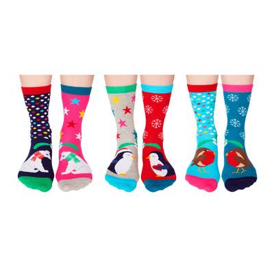 Damen Geschenkbox 6er Pack Socken Kissmas   37-42