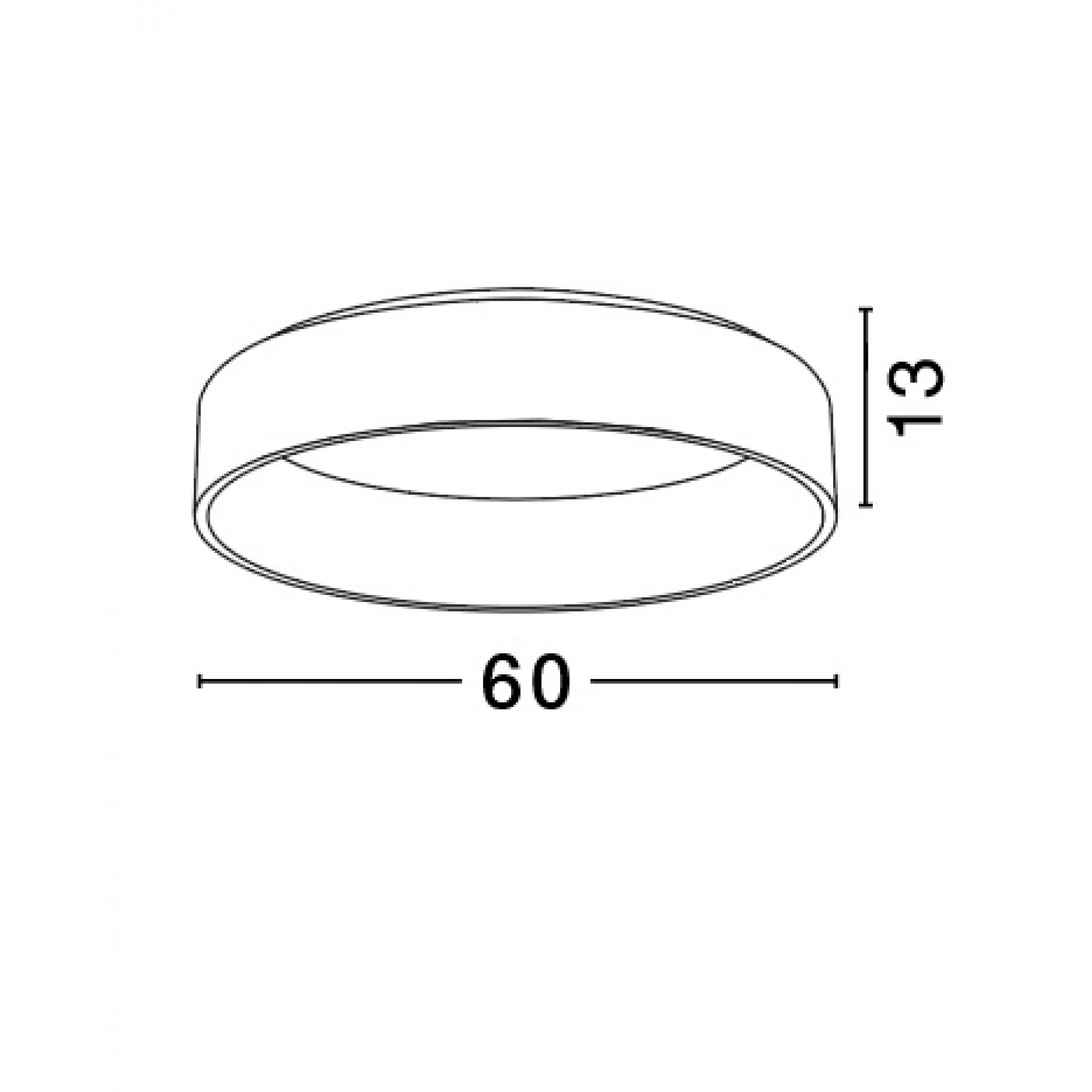 Pendelleuchte Rando T 60 cm H 13 cm   Schwarz