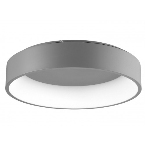 Deckenleuchte Rando T 60 cm H 13 cm | Grau