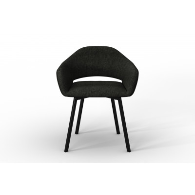 Stuhl Oldenburg | Grau-Leinen Touch