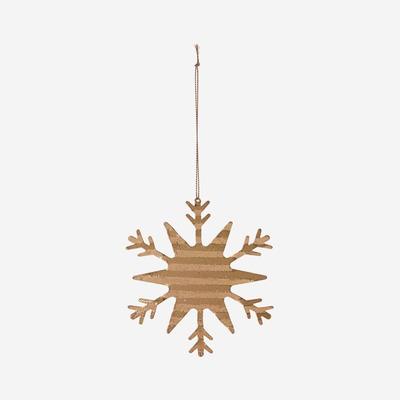 4er-Set Eiskristall-Ornamenten | Messing