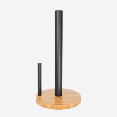 Papierhandtuchhalter Bambus | Schwarz