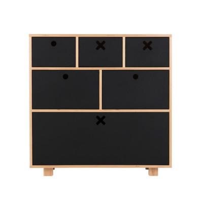 Sideboard Groß | Schwarz