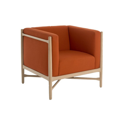 Loka Armchair | Beech/Orange