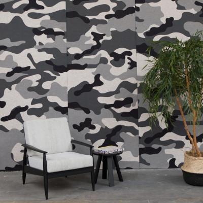 Akustiktapete BuzziSkin Printed   Camouflage Schnee