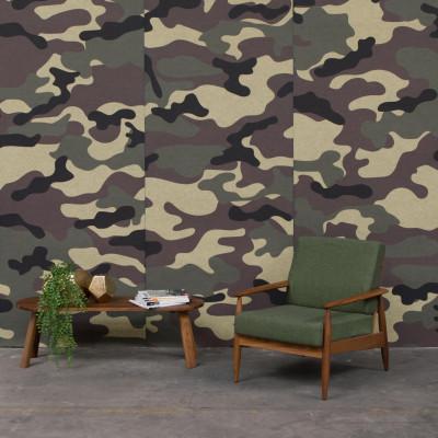 Akustiktapete BuzziSkin Printed   Camouflage Taiga