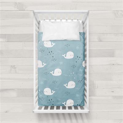 MaxiCrib Bettbezug Deep I Blau 115x145 + 40x60 cm