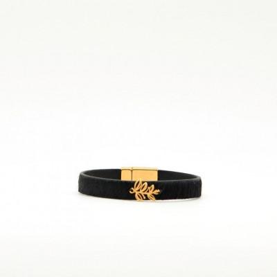 Bracelet Leaf   Black